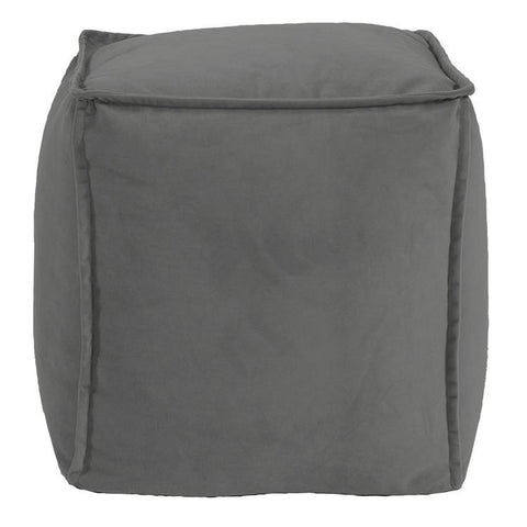 Howard Elliott Bella Pewter Square Pouf