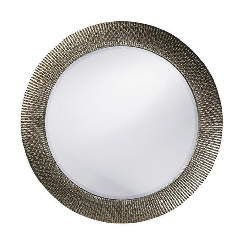 Howard Elliott Bergman Silver Round Mirror - Small
