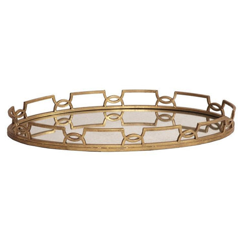 Howard Elliott Bright Gold Metal Tray