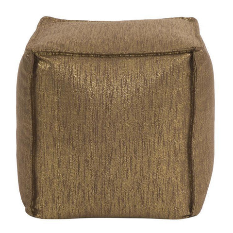 Howard Elliott Glam Chocolate Square Pouf