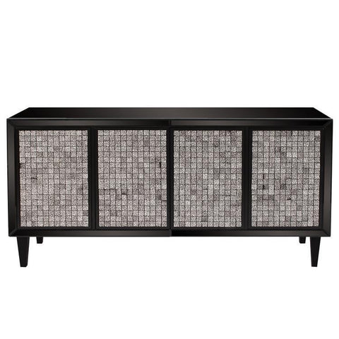 Howard Elliott Glossy Black Cabinet w/ Tile Front