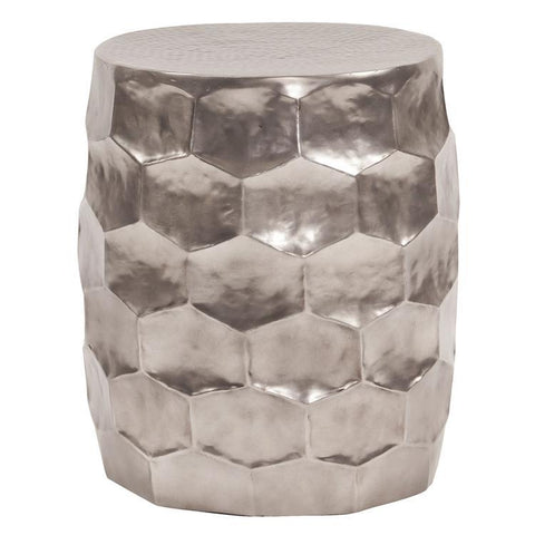 Howard Elliott Hammered Aluminum Graphite Stool