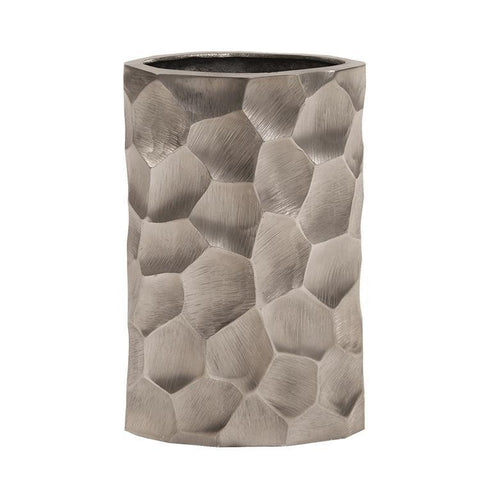Howard Elliott Hammered Aluminum Oval Vase Graphite