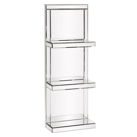 Howard Elliott Mirrored Shelf w/3 Shelves