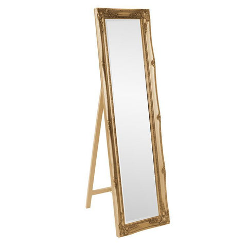 Howard Elliott Queen Ann Gold Standing Mirror