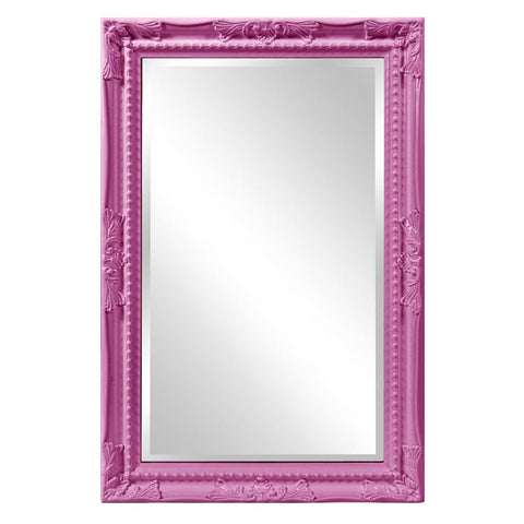 Howard Elliott Queen Ann Rectangular Glossy Hot Pink Mirror