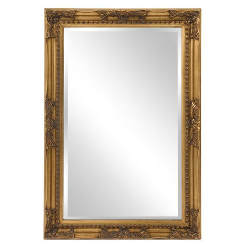 Howard Elliott Queen Ann Rectangular Gold Mirror