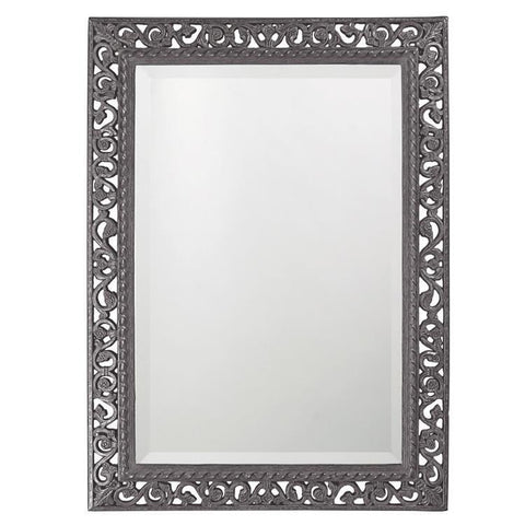 Howard Elliott Rectangle Bristol Glossy Charcoal Gray Mirror