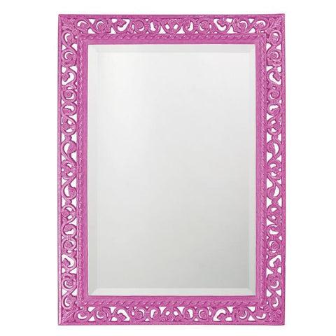 Howard Elliott Rectangle Bristol Glossy Hot Pink Mirror