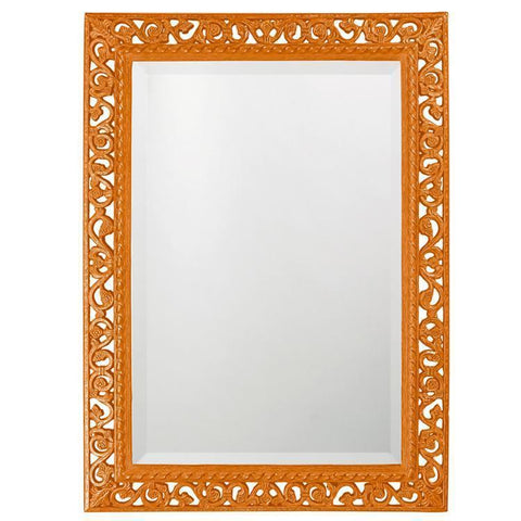 Howard Elliott Rectangle Bristol Glossy Orange Mirror