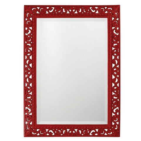 Howard Elliott Rectangle Bristol Glossy Red Mirror