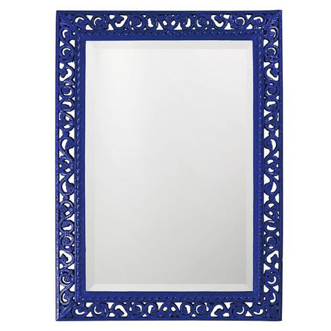 Howard Elliott Rectangle Bristol Glossy Royal Blue Mirror