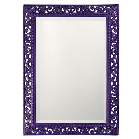 Howard Elliott Rectangle Bristol Glossy Royal Purple Mirror