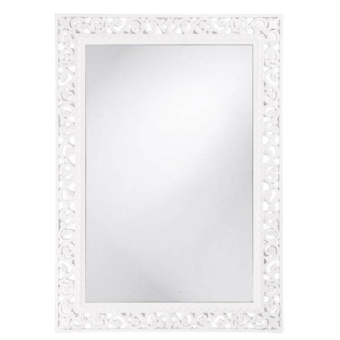 Howard Elliott Rectangle Bristol Glossy White Mirror