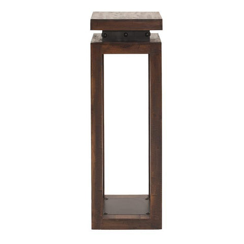 Howard Elliott Rustic Wood Pedestal w/Iron Accents - Large