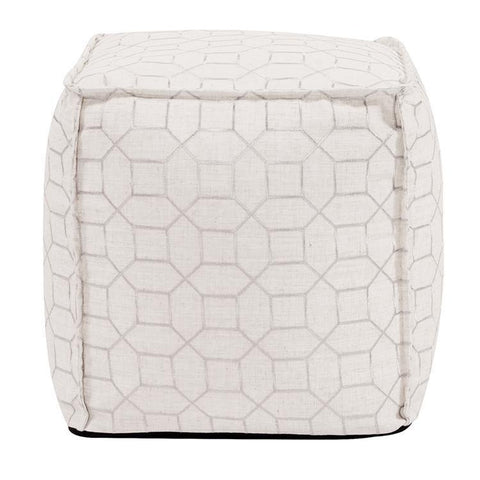 Howard Elliott Square Pouf Trellis Natural