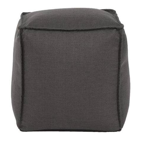 Howard Elliott Sterling Charcoal Howard Elliott Square Pouf