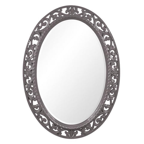 Howard Elliott Suzanne Glossy Charcoal Gray Mirror