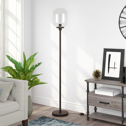 Hudson & Canal Agnolo Blackened Bronze Floor Lamp