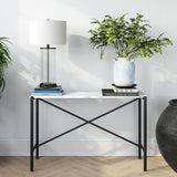 Hudson & Canal Braxton Black and Marble Console Table