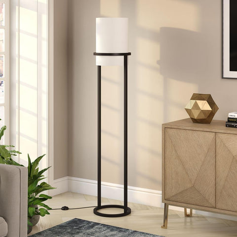 Hudson & Canal Casimir Blackened Bronze Floor Lamp