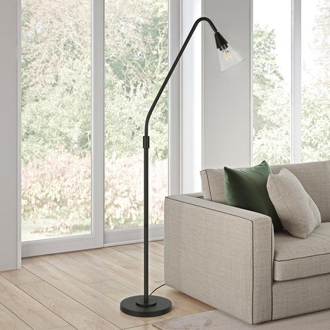 Hudson & Canal Challice Blackened Bronze Arc Floor Lamp