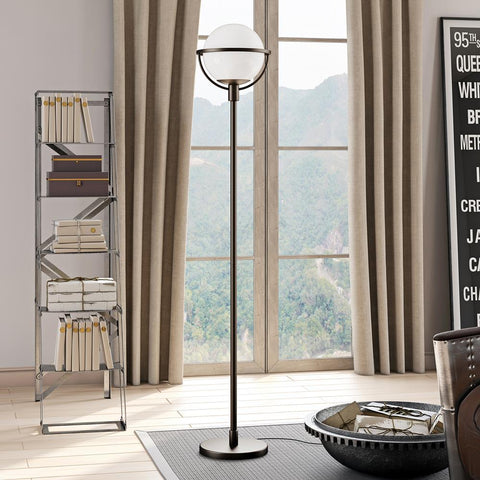 Hudson & Canal Cieonna Blackened Bronze Globe & Stem Floor Lamp