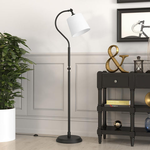Hudson & Canal Harland Blackened Bronze Arc Floor Lamp