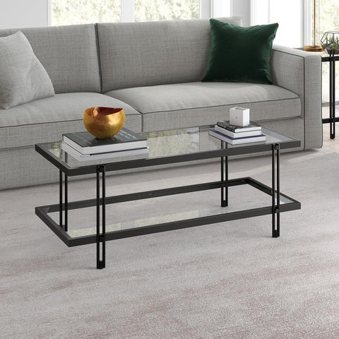 Hudson & Canal Inez Coffee Table Blackened bronze finish