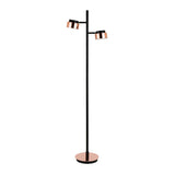 Hudson & Canal Jex Copper and Black Floor Lamp