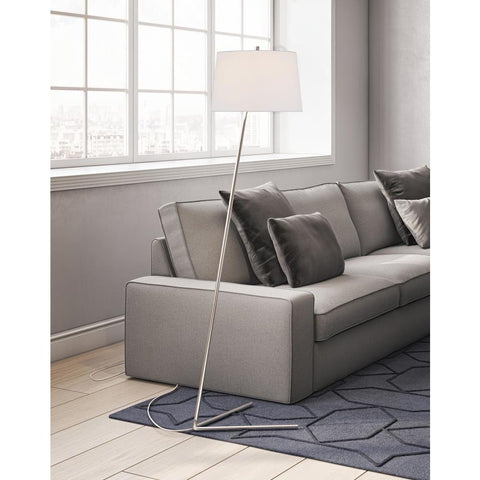 Hudson & Canal Markos floor lamp in nickel