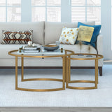 Hudson & Canal Mitera coffee table set in brass
