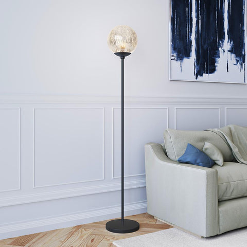 Hudson & Canal Oula mercury glass floor lamp