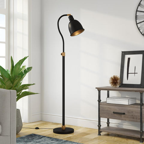 Hudson & Canal Vincent Blackened Bronze Arc Lamp