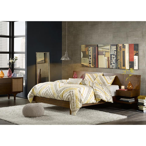 INK+IVY Clark Bed with 2 Nightstands Queen