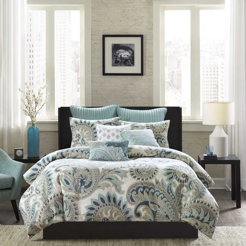 INK+IVY Mira Duvet Cover Mini Set In Blue