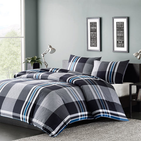 INK+IVY Nathan Duvet Cover Mini Set In Grey