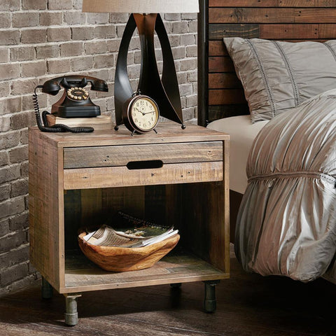 INK+IVY Renu Solid Wood Nightstand