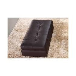 J&M 397 Italian Leather Ottoman In Chocolate Color