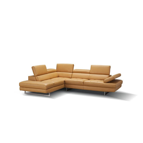 J&M Furniture A761 Italian Leather Sectional in Freesia