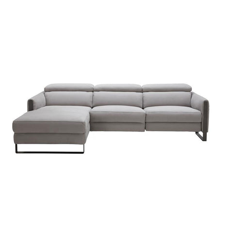 J&M Furniture Antonio Sectional in Left Hand Facing in Chalk