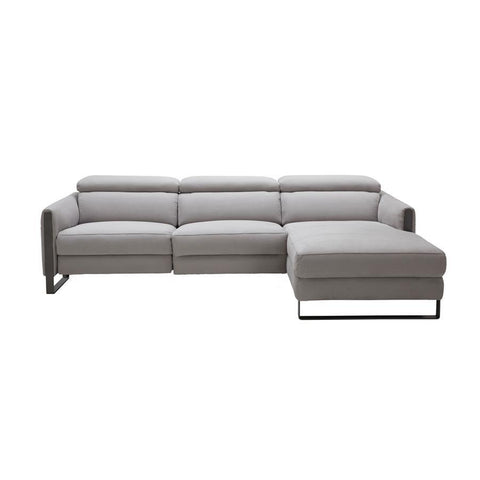 J&M Furniture Antonio Sectional in Right Hand Facing in Chalk