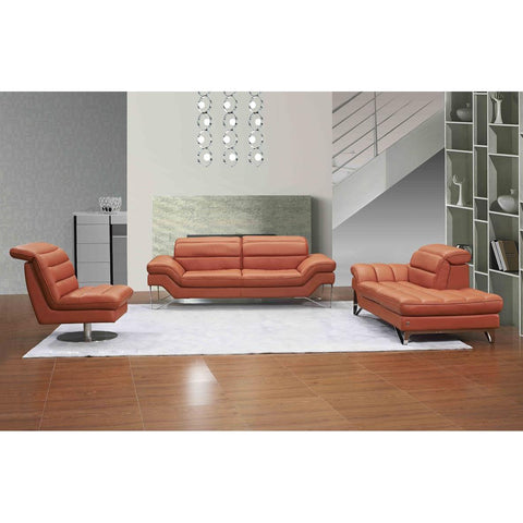 J&M Astro 3 Piece Sofa Set In Pumpkin