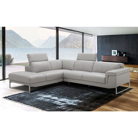 J&M Furniture Athena Sectional in Light Grey