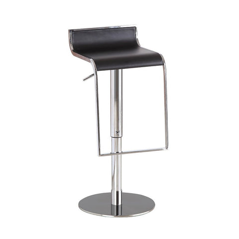 J&M Furniture C027B-3 Black Leather Barstool