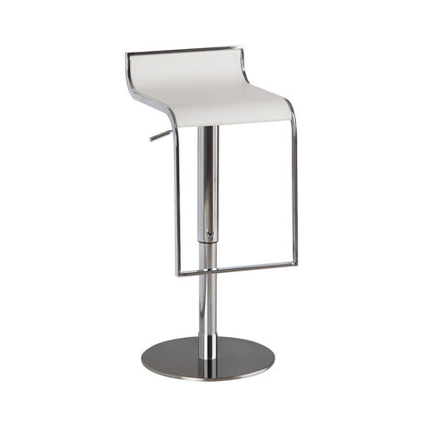 J&M Furniture C027B-3 White Leather Barstool