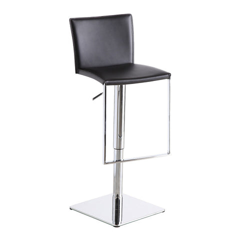 J&M Furniture C183B-3 Black Leather Barstool