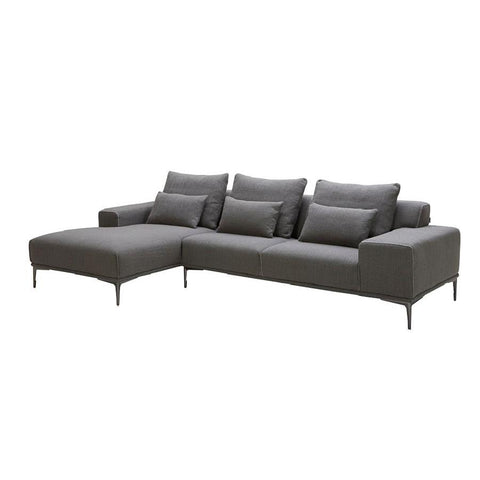 J&M Furniture Christian Modern Sectional in Left Hand Facing in Grey