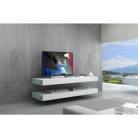 J&M Furniture Cloud Mini TV Base in White High Gloss