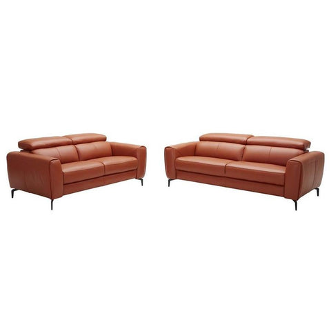 J&M Furniture Cooper 2 Piece Living Room Set in Pumpkin